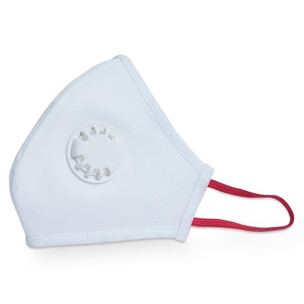 Smog Guard N95 Mask With One White Valve (Adults Free Size, White)