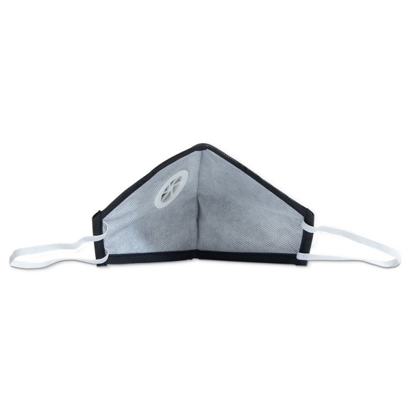 Smog Guard N95 Mask With One Valve (Adults Free Size, Black)