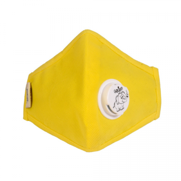 Smog Guard N95 Kids Mask With One Valve (Yellow)