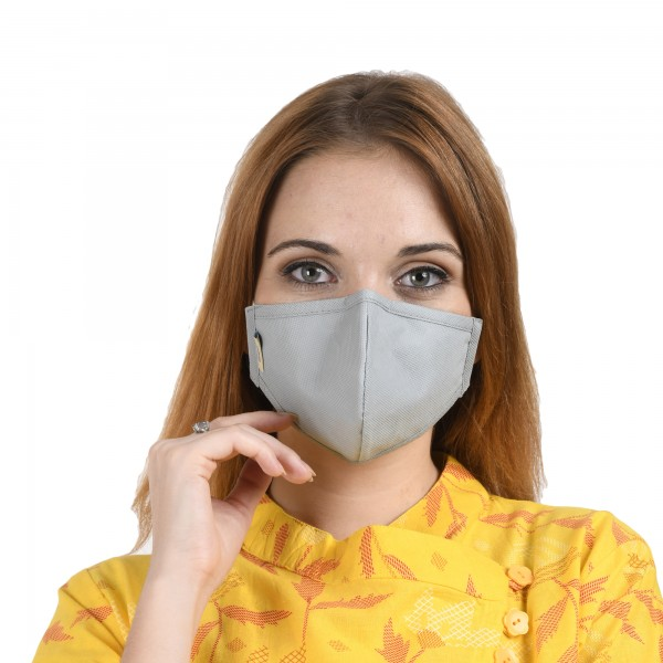 Smog Guard N95 Mask Without Valve (Adults Free Size, Grey)