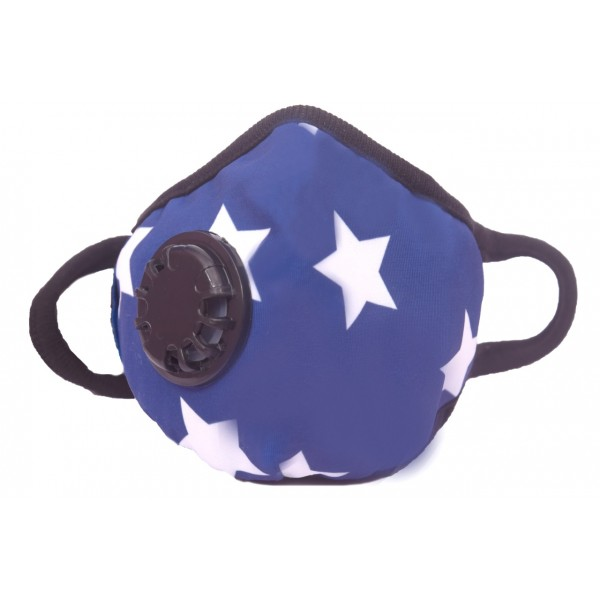Smog Guard N99 Mask With One Valve (Kids) - Star Design